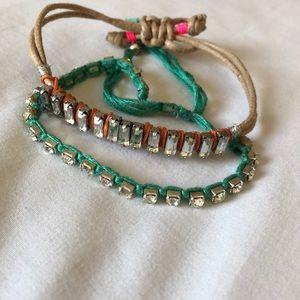 Two thread bead style bracelets